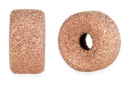 (50 Pieces 14K Rose Gold Filled Roundel Stardust Beads 3)