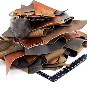 Cowhide Leather Scraps Bag for Arts and Crafts 1 to 100 Pounds Available Assorted Color and Size's (2 Pounds) Saddleback Leather Co.