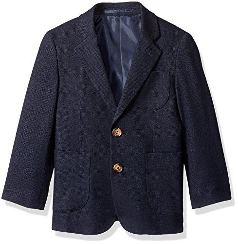 Birdseye Cotton Weave (Isaac Mizrahi Boys' Little Boys' Birdseye Weave Blazer, Navy, 7)