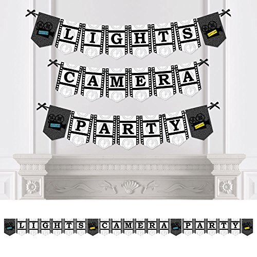 Big Dot of Happiness Movie - Party Bunting Banner - Hollywood Party Decorations - Lights, Camera, -