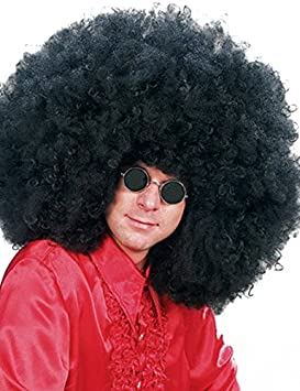 AFRO WIG mega gaint SUPER JIMMY black massive 70s DISCO (peluca)