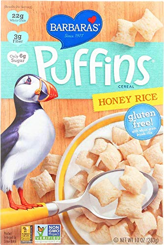 - Barbaras Bakery, Cereal Puffins Honey Rice, 10 Ounce