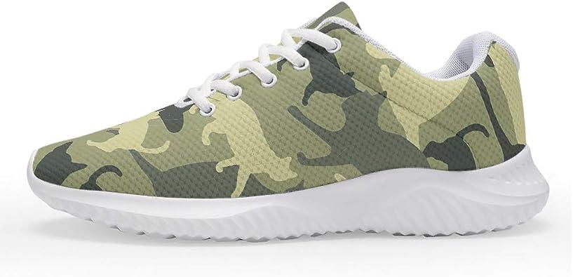 Zapatillas de Camuflaje Verde para Hombre, Mujer, para Correr, para Correr, Caminatas, para Entrenamiento, Unisex, para Adultos, Talla 35-47: Amazon.es: Zapatos y complementos