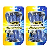 Bic Comfort 3 Advance Disposable Razor for Men, 4-Count (Pack of 2)