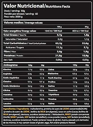 MASS GAINER, Sabor Chocolate, 3000 g