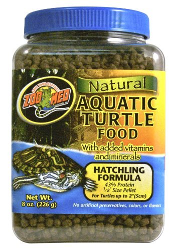 Zoo Med Natural Aquatic Turtle Food, Hatchling Formula, 8-Ounce by Zoo Med ()