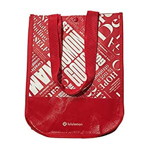 Lululemon 20th Anniversary Reusable Lunch Tote & Carryall Gym Bag – Collapsible, Waterproof, Eco-Friendly, Small, Red