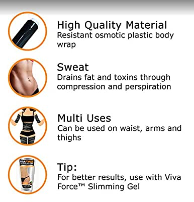 Viva Force Thermal Waist Wrap & Waist Trainer for Weight Loss