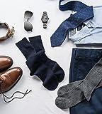Silky Toes Men's Cotton Dress Crew Flat Socks - 6