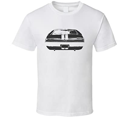 Amc Amx Faded Look Rear View Black Graphic Light T Shirt Xsy White