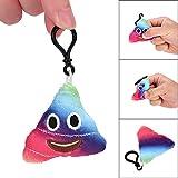 toyota charm - Hisoul Emoticon Poo Shape Keychain - Cute Amusing Toy Gift Key Chain Pendant Bag Accessory, Doll Keychain for Car Keyring, Charm Gift (Multicolor)