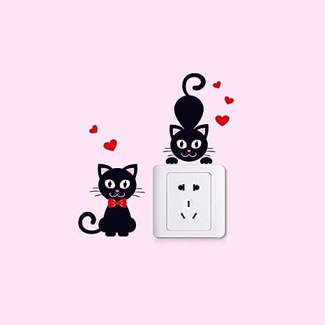 Gatos Negros con Pajarita Roja & Dibujos Animados de ...