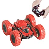 Remote Control Car, Herwiss 1:28 Scale Electric RC Stunt Car, Off Road 4WD High Speed Racing Toy Cars with 2.4Ghz Radio Control, Kids Vehicle Hobby, Gifts for Boys Girls (Batteries Not Included)