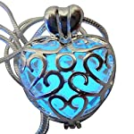 UMBRELLALABORATORY Wishing Heart Fairy Magical Fairy Glow in The Dark Necklace-Blue-SIL 6