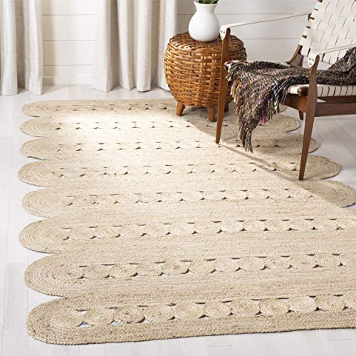 Safavieh Natural Fiber Collection NF365A Hand-woven Jute Area Rug, 8 x 10 , Ivory