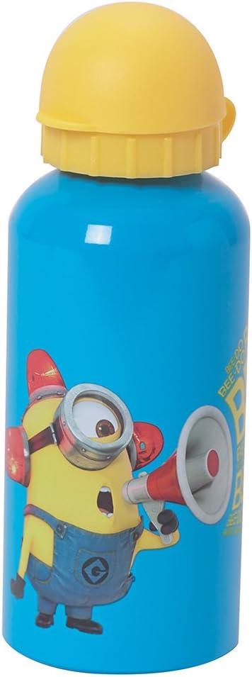 Fun House 005118Cantimplora de Aluminio para niños, diseño de los Minions, 6,4x 6,4x 17cm, Azul