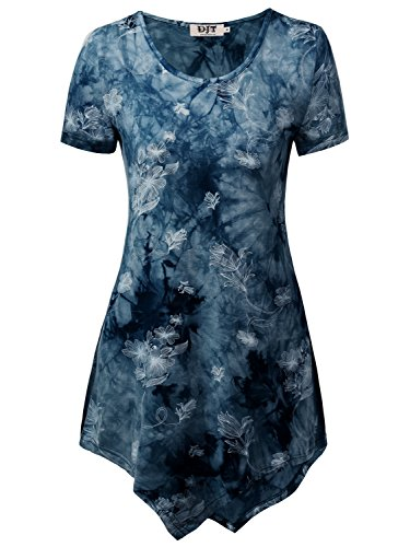 DJT Womens Short Sleeve Handkerchief