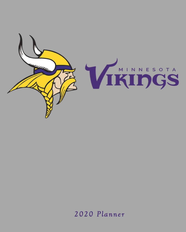 Vikings 2020 Schedule.Minnesota Vikings 2020 Planner Calendar Agenda Daily
