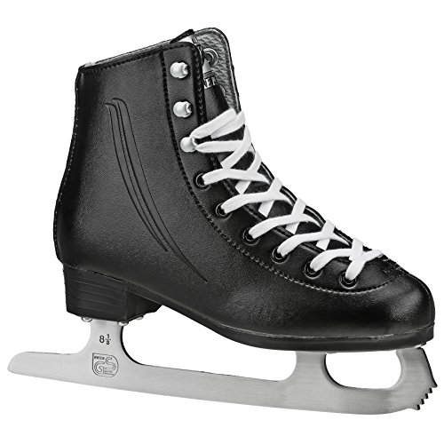 Lake Placid Cascade Boys Figure Ice Skate, Black, Size Youth 12