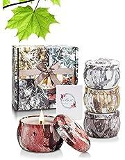 Yinuo Candle Bougies Parfumées Bougies Aromatiques Coffrets Cadeaux 4 Boîtes
