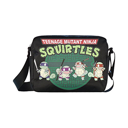[DOROT Teenage Mutant Ninja Turtles TMNT Unisex Nylon Waterproof Material Black Cross-body Nylon Bags Shoulder] (Tmnt April O Neil Costumes)