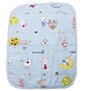 LAYs Baby Diaper Changing Pad Cover Urine Mat Cotton,Waterproof,Portable,Large (2pcs, Blue)