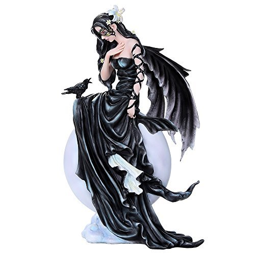Dark Skies Lily Fairy Raven Figurine Fairies Collectible Art Inspiration 12 inches