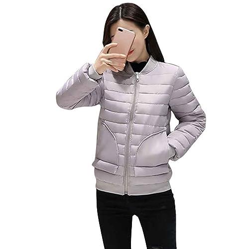 KOROWA Chaqueta acolchada del invierno de la chaqueta del béisbol de la prenda impermeable del algod...