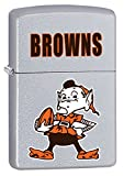 Zippo Lighter NFL Throwback Cleveland Browns Satin Chrome