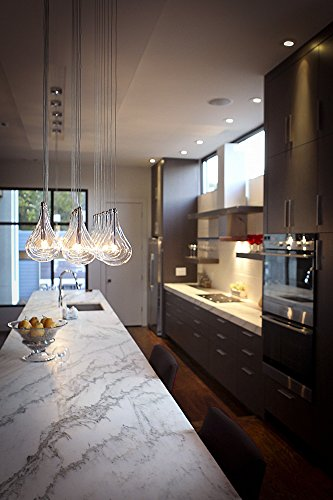 ET2 E20118-18 Larmes 24-Light Linear Pendant, Polished Chrome Finish, Clear Glass, 12V G4 Xenon Bulb, 50W Max., Dry Safety Rated, Shade Material, 1150 Rated Lumens by ET2 Lighting (Image #3)