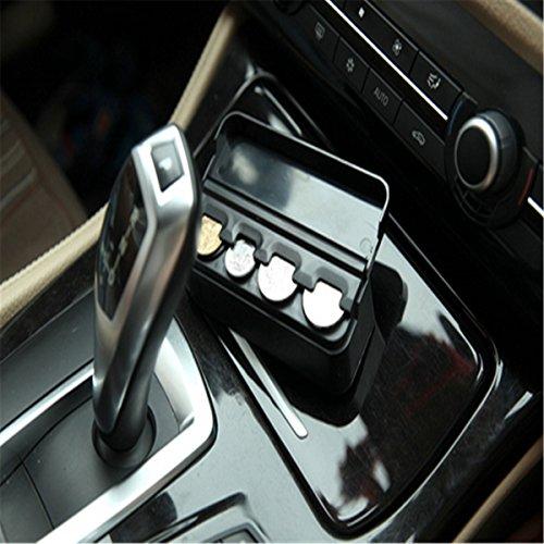orliverhl portable coin holder dispenser black car interior plastic coin case storage box holder. Black Bedroom Furniture Sets. Home Design Ideas