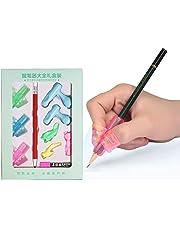 Juego de 4 l/ápices de silicona para escritura con forma de pez iTemer herramienta de correcci/ón de postura para adultos y ni/ños