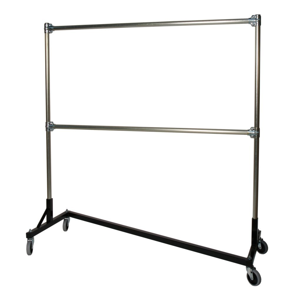 Double Rail Garment Rack: Kitchen U0026 Dining