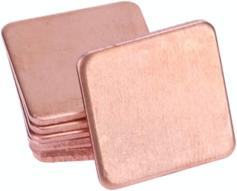 Blade Quantity: 05 mm Rarido Newest 10 Pcs 20mm x20mm 0.3mm//0.5mm////0.8mm//1mm//1.2mm Heatsink Copper Shim Thermal Pads for Laptop GPU CPU VGA Chip RAM Copper