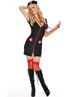 a8481c0199c4e Women's Sexy Lingerie Nightwear Underwear Sets Babydoll Sleepwear Cosplay Nurse  Costume