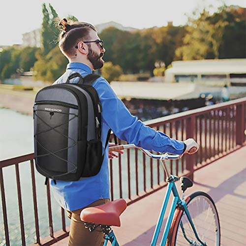 Laptop Backpack, SEEHONOR Travel Laptop Backpack with USB Charging Port, 15.6 Inch Slim Business Computer Backpack for… 7