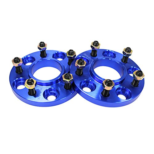 ハブ付ワイドトレッドスペーサー (ブルー/青) PCD100-5H-M12-P1.5-20mm 2枚入り B00W2ZDUOO
