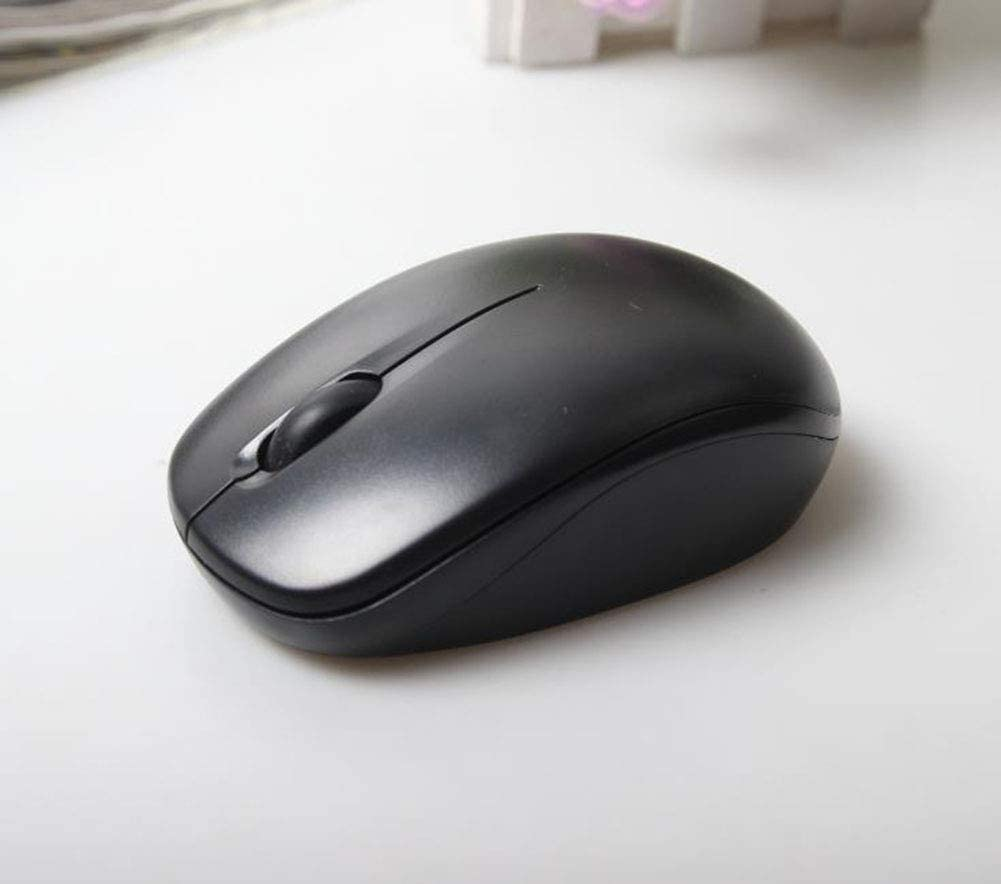 Black Home Business USB Wireless Mouse Ergonomics 8PCS Mouse 2.4G Optical Wireless Mouse