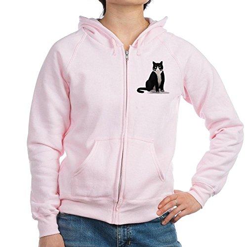 CafePress - Tuxedo Kitty Cat - Womens Zip Hoodie, Classic Hooded Sweatshirt with Metal Zipper Kitty Zip Hoodie