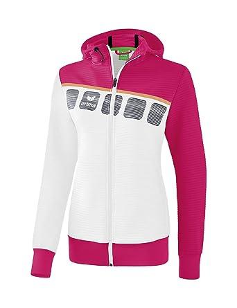 Erima Mädchen 5 c Trainingsjacke mit Kapuze Jacke:
