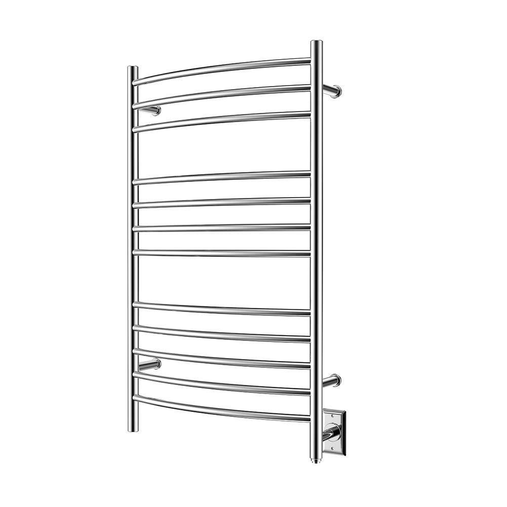 HEATGENE Towel Warmer Wall Mount Electric Plug-in/Hardwired Heated Towel Rack Mirror Polish