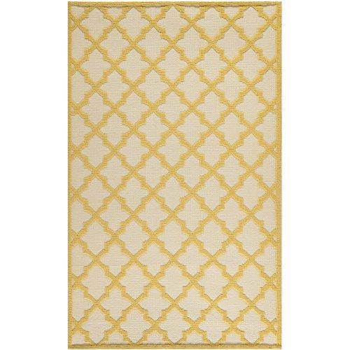 Martha Stewart Safavieh Collection MSR2552A Vermont Premium Wool Ivory and Gold Area Rug (8' x 10')