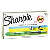 Sharpie 28026 Accent Retractable Highlighters Chisel Tip Fluorescent Green Dozen