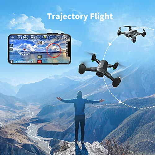 Dragon Touch Drone Plegable con Cámara 1080P HD Avión con WiFi FPV Control Remoto RC Quadcopter Drone para Adultos Niños Principiantes Modo sin Cabeza Estabilización de Altitud DF01