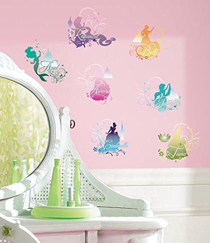 (York Wallcoverings RMK2167SCS RoomMates Disney Princess - Silhouette Peel & Stic, Multi)