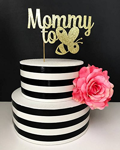 Mommy to bee cake topper- baby shower cake topper- sprinkle cake topper- mommy to be cake topper- bumble bee cake topper