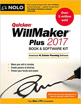 Quicken willmaker plus 2017 edition book software kit amazon quicken willmaker plus 2017 edition book software kit amazon editors of nolo 9781413323108 books solutioingenieria Image collections