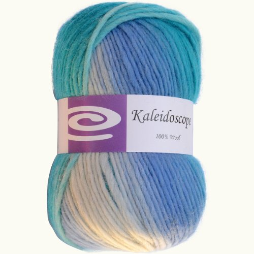 Blue Classic Knitting Yarn - Elegant Yarns 147-67 Kaleidoscope Yarn, Ocean Breeze