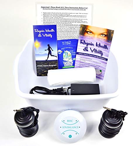 Ionic Foot Cleanse. Detox Foot Bath Machine. Foot Spa Bath for Home Use. Free Regain Health & Vitality Booklet & Brochure!