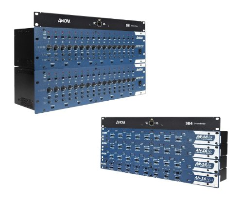 Aviom Systems - New Aviom | 32 Mic/Line Inputs 16 Line-Level Returns Digital Snake System, DS32 with AN-16/i-M Mic Input Modules, AN-16/i v.2 Input Module, AN-16/o v.4 Output Modules, and SB4 System Bridges